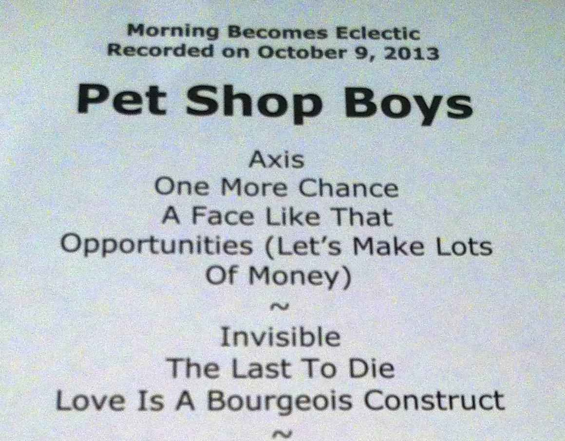Radio – Pet Shop Boys – News