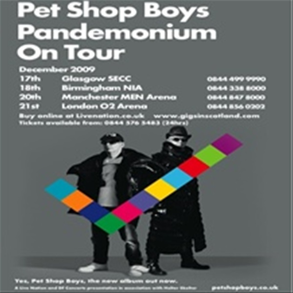 7d0c698f9 Pet Shop Boys' December concerts in Glasgow, Birmingham, Manchester and  London are now on public sale, following yesterday's exclusive pre-sale  offer on ...