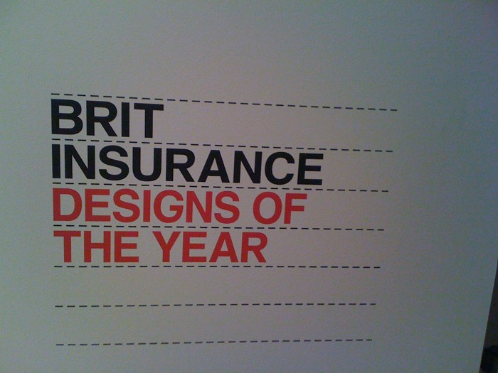 At the Brit (design) Awards.