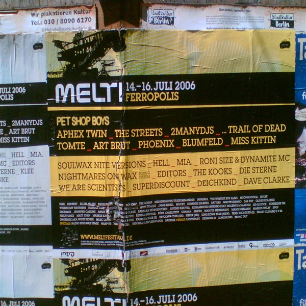 Melt Festival poster in Berlin.