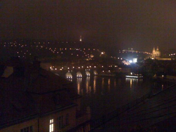 Prague tonight.