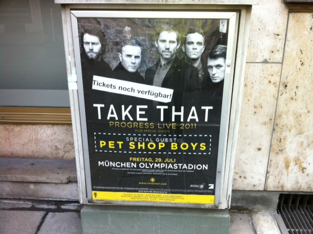 Take That tour poster